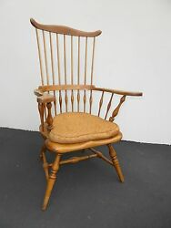 Vintage French Country High Banister Windsor Chair By Jean Of Topanga Made Usa