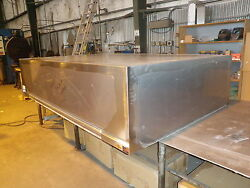 42 Inch Commercial Kitchen Dishwasher Hood System With Blower / Roof Curb New