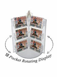 18 Pocket Spinning Business Gift Card Holder Rack Display Acrylic Qty 12
