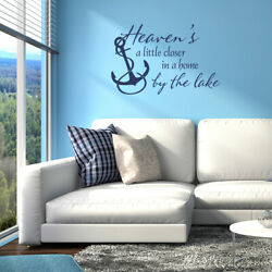 Heavenand039s A Little Closer In A Home By The Lake Wall Decal Quote With Anchor L219
