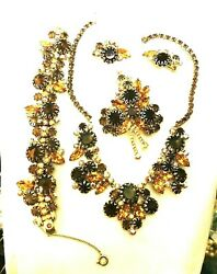 Stunning Juliana Delizza And Elster Necklace, Bracelet, Brooch And Earring Book Set