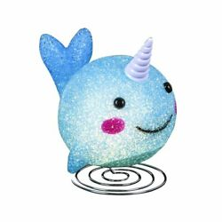 """Kicko Sparkle Narwhal Lamp - 7.5"""" Narwhal Shaped Lamp With Sturdy Steel Base..."""