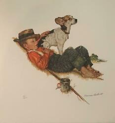 Norman Rockwell Love Pat Puppy Love Portfolio HS # Litho on Arches Paper Framed