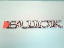 New Nos Oem Buick 1988-92 Regal Buick Trunk Emblem Adhesive Backed---chrome