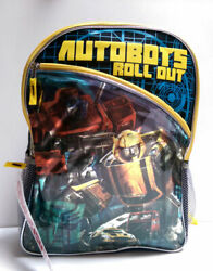 TRANSFORMERS Bumble Bee Autobots Roll Out 16quot; Backpack School Boys Kids Book Bag $13.75