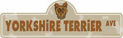 Yorkshire Terrier Street Sign Dog Lover Funny Home Décor 20