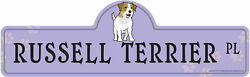 Russel Terrier Street Sign Dog Lover Funny Home Décor 18
