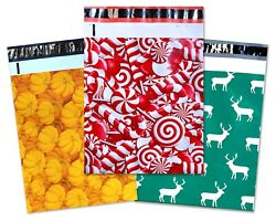 10x13 Fall Winter Christmas Candy Cane Pumpkin Deer Poly Shipping Mailers
