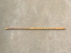 Vintage Bank Of Pasco County All The Bank Youll Ever Need Adv Block Yardstick