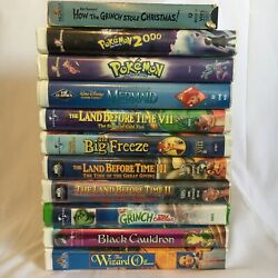 Lot Of 11 Vhs Children's Tapes -mostly Disney- Cartoons And Movies