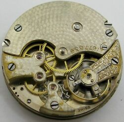 Small 29.6 Mm Longines Wittnauer 15 Jewels Pocket Watch Movement Hc For Parts