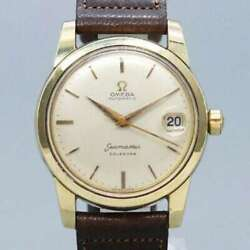 Free Shipping Pre-owned Omega Seamaster Calendar 2849-2 Antique Watch Made 1956