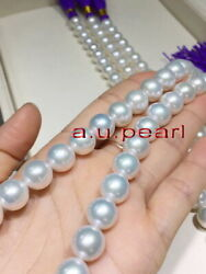 Big Aaa++ 1713-16mm Round Real Natural South Sea White Pearl Necklace 14k Gold