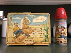 Vintage Gene Autry 1954 Lunch Box With Thermos