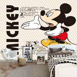 Reach Mickey Mouse 3d Full Wall Mural Photo Wallpaper Printing Home Kids Decor