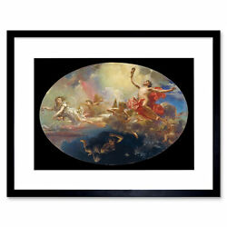 Painting Caba Triumph Of Day Over Night Preceded By Dawn Framed Print 12x16 Inch