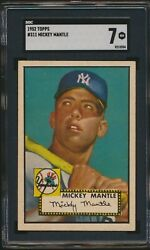 CENTERED 1952 Topps Hi #311 Mickey Mantle New York Yankees HOF RC SGC 7 NM  WOW!