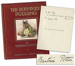 Beatrix Potter Signed 1st Edition 2nd Roly-Poly Pudding