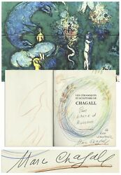 Original Artwork Signed by Marc Chagall in His Book