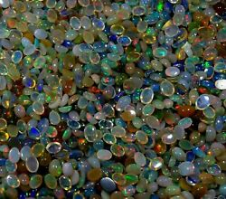Gtl Certified 350cts Natural Ethiopian Opal Mix Calibrated Size Gemstone B-79 A1