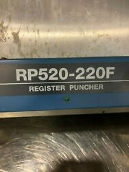 Ryobi Rp Rp 520- 220 F Plate Punch / Gto 52 Plate Punch