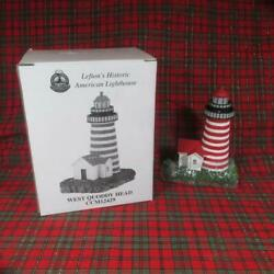 Leftonand039s Historic American Lighthouse West Quoddy Head Me Mint In Box 1999