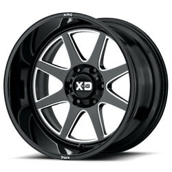 Xd Series Xd844 Pike 22x12 5x127 Offset -44 Gloss Black Milled Quantity Of 4