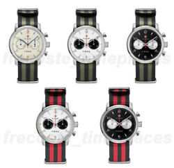 Red Star 1963 Seagull St19 Chronograph Hand Wind Mechanical Watch 42mm Swan Neck