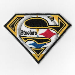 Pittsburgh Steelers E Iron On Patch Embroidered Football Patches