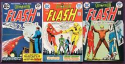 Flash 224 To 226. Dc 1973. 3 X Bronze Age Issues.