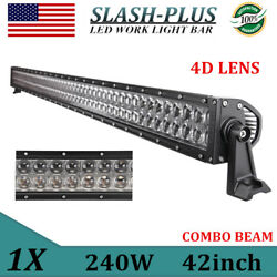 4d+ 42''inch 240w Led Light Bar Flood Spot Combo Offroad Truck Ford 4wd 4044