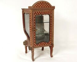 Small Showcase Chair In Holder Leather Golden Au Iron Flowers Restauration 19th