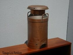 Antique 1920s Solid Copper Milk Can Canister For James Canyon Ranch Genoa Neveda