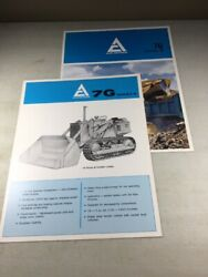 Lot Of 2 Allis Chalmers Hd-7g Sales Brochures Original