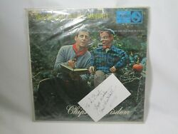 New And Autographed Paul Winchell Jerry Mahoney Chips Of Wisdom Vinyl Record