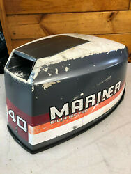 1989 Mariner 40 Hp Outboard Motor Hood Top Cowl Cowling Cover Freshwater Mn