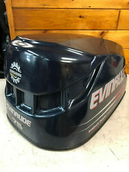 2002 Evinrude 75 Hp Ficht 2 Stroke Outboard Engine Top Cowl Hood Freshwater Mn