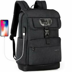 Mens Womens Anti-Theft Laptop Backpack USB Charging Notebook Travel School Bag