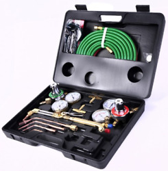 Gas Welding Cutting Tool Kit Oxy Acetylene Oxygen Torch Brazing Fits VICTOR Hose