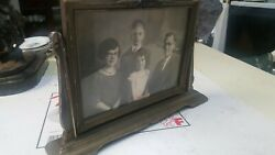 Antique Victorian Vintage Painted Wood Photo Picture Frames With Photos