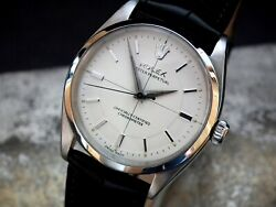 Stunning 1957 Rolex Oyster Perpetual 6565 Sector Dial Gents Vintage Watch