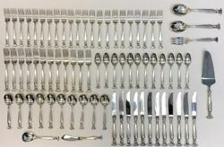 Wallace Romance Of The Sea Sterling Silver Flatware 74pc Service For 12 + Extras