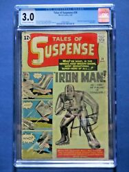 Tales of Suspense #39 - CGC 3.0 - Origin & 1st Appearance of Iron Man - Huge Key