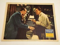 Original Charlie Chan In Panama - 1940 Lobby Card 2 Sidney Toler Rogers Atwill
