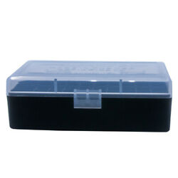 Berryand039s Plastic Ammo Boxes 5 Clear/black 50 Round 44 Spl And Mag - Free Shipping