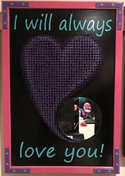 I Will Always Love You 3-d Screw-art Mirror By Eric Johnson