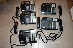 Lot Of 5 T7316e Nortel Norstar Networks Business Company Phones With Handset