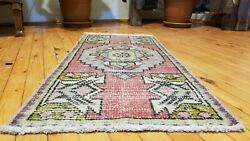 Bohemian Antique 1900-1930and039swool Pile Natural Color Rug 1and0396 X 3and0394