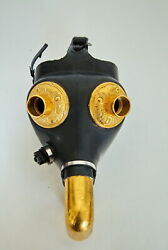 Steampunk Gas Mask Art – Black And Gold Tone - Costume Or Display – Sz 1 Adult 1