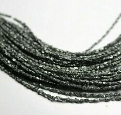 Natural Black Diamond Long Chipsloose Rough Diamond For Jewelry 16 Inch Strand